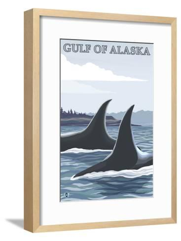 Orca Whales No.1, Gulf of Alaska-Lantern Press-Framed Art Print