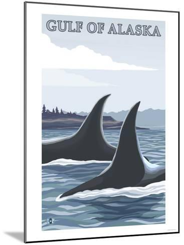 Orca Whales No.1, Gulf of Alaska-Lantern Press-Mounted Art Print