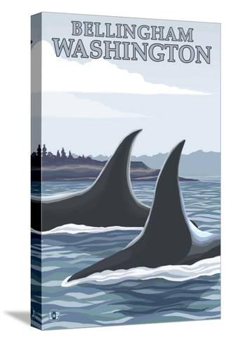 Orca Whales No.1, Bellingham, Washington-Lantern Press-Stretched Canvas Print