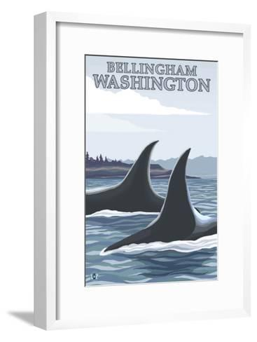 Orca Whales No.1, Bellingham, Washington-Lantern Press-Framed Art Print