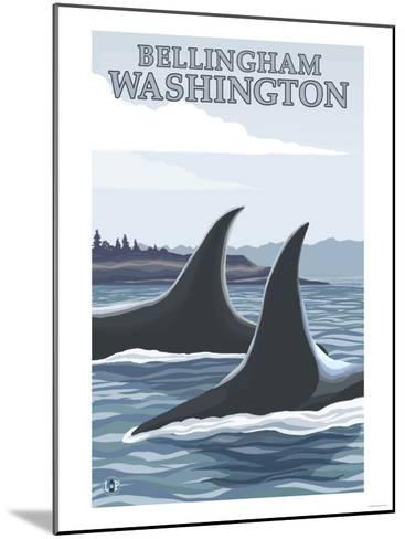 Orca Whales No.1, Bellingham, Washington-Lantern Press-Mounted Art Print