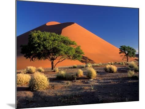 Sossosvlei Dunes, Namib-Naukluff Park, Namibia-Art Wolfe-Mounted Photographic Print