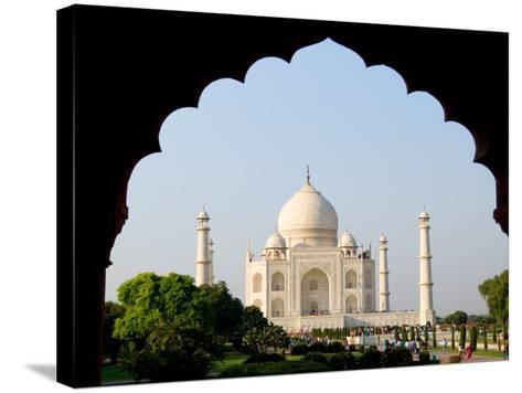 Sunrise at the Taj Mahal, Agra, India-Bill Bachmann-Stretched Canvas Print