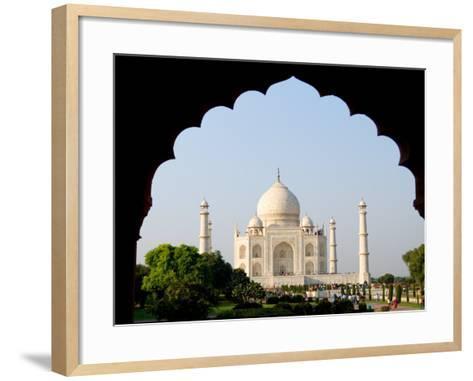 Sunrise at the Taj Mahal, Agra, India-Bill Bachmann-Framed Art Print