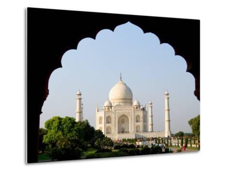 Sunrise at the Taj Mahal, Agra, India-Bill Bachmann-Metal Print