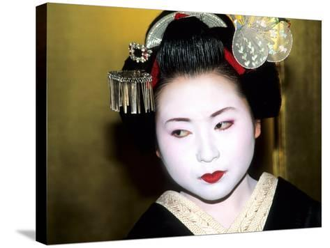 Close-up of Geisha Girl in Gold, Kyoto, Japan-Bill Bachmann-Stretched Canvas Print