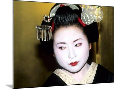 Close-up of Geisha Girl in Gold, Kyoto, Japan-Bill Bachmann-Mounted Photographic Print