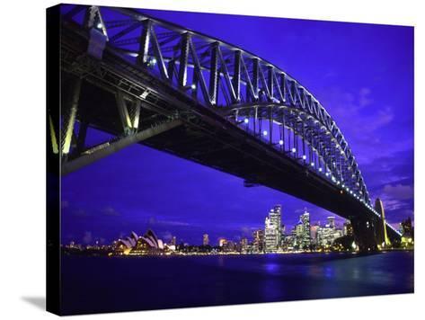 Skyline and the Harbor Bridge, Sydney, Australia-Bill Bachmann-Stretched Canvas Print