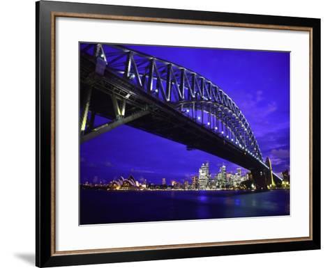 Skyline and the Harbor Bridge, Sydney, Australia-Bill Bachmann-Framed Art Print