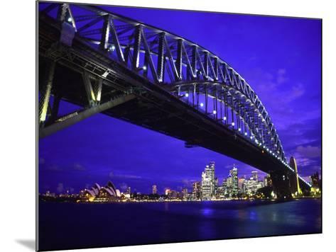 Skyline and the Harbor Bridge, Sydney, Australia-Bill Bachmann-Mounted Photographic Print