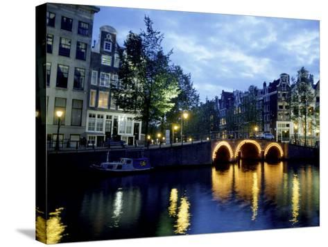 Canals of Amsterdam, Holland-Bill Bachmann-Stretched Canvas Print
