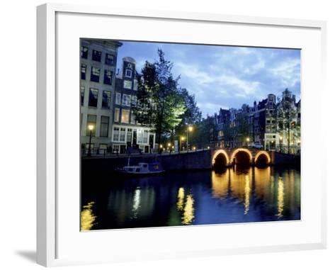 Canals of Amsterdam, Holland-Bill Bachmann-Framed Art Print