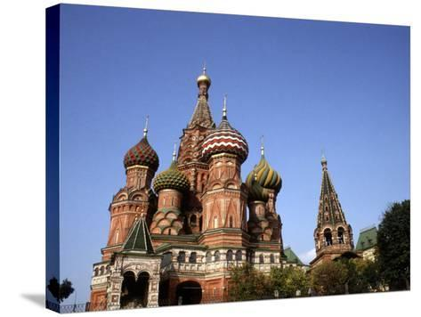 St. Basil's Cathedral, Red Square, Moscow, Russia-Bill Bachmann-Stretched Canvas Print