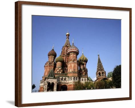 St. Basil's Cathedral, Red Square, Moscow, Russia-Bill Bachmann-Framed Art Print