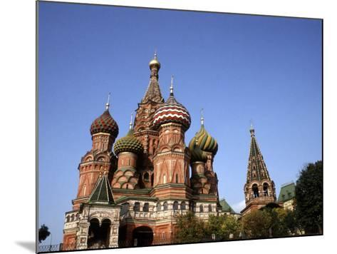 St. Basil's Cathedral, Red Square, Moscow, Russia-Bill Bachmann-Mounted Photographic Print