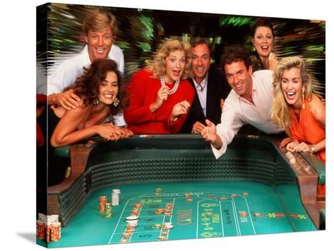 Couples Enjoying Themselves in a Casino-Bill Bachmann-Stretched Canvas Print