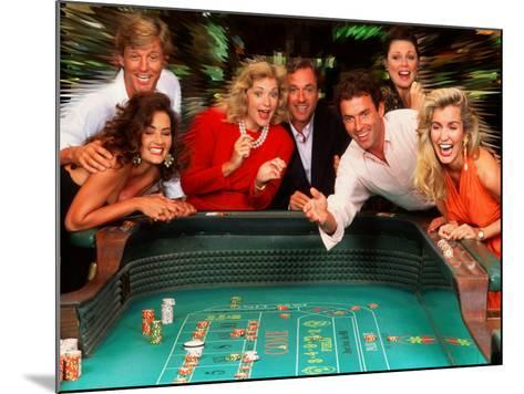 Couples Enjoying Themselves in a Casino-Bill Bachmann-Mounted Photographic Print