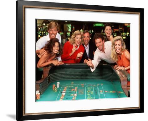 Couples Enjoying Themselves in a Casino-Bill Bachmann-Framed Art Print