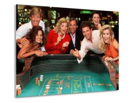 Couples Enjoying Themselves in a Casino-Bill Bachmann-Metal Print