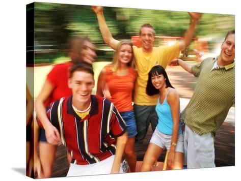 Teens Having Fun Outdoors-Bill Bachmann-Stretched Canvas Print
