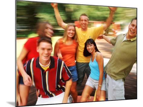 Teens Having Fun Outdoors-Bill Bachmann-Mounted Photographic Print