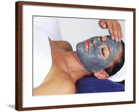 Young Woman Receiving Facial Treatment-Bill Bachmann-Framed Art Print