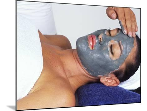 Young Woman Receiving Facial Treatment-Bill Bachmann-Mounted Photographic Print