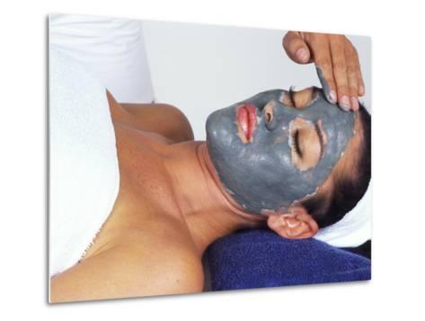 Young Woman Receiving Facial Treatment-Bill Bachmann-Metal Print