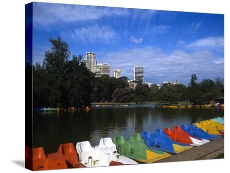 Colorful Boats, Palmero, Buenos Aires, Argentina-Bill Bachmann-Stretched Canvas Print