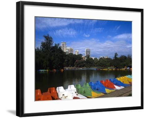 Colorful Boats, Palmero, Buenos Aires, Argentina-Bill Bachmann-Framed Art Print