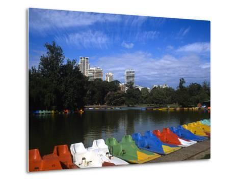 Colorful Boats, Palmero, Buenos Aires, Argentina-Bill Bachmann-Metal Print