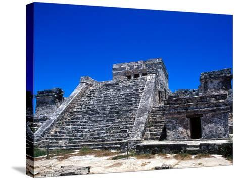 Pyramid Ruins in Tulum, Mexico-Bill Bachmann-Stretched Canvas Print