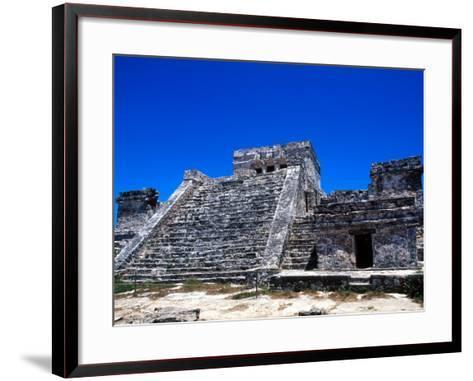 Pyramid Ruins in Tulum, Mexico-Bill Bachmann-Framed Art Print