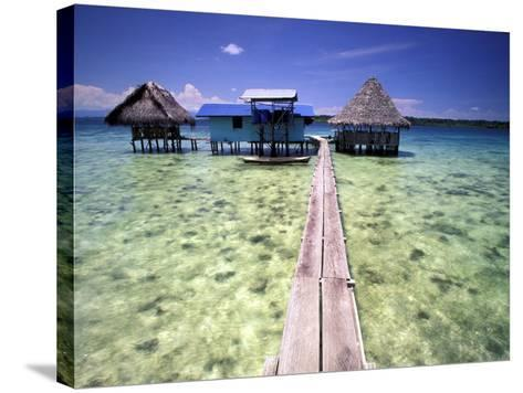 Restaurant Over the Water, Bocas del Toro Islands, Panama-Art Wolfe-Stretched Canvas Print