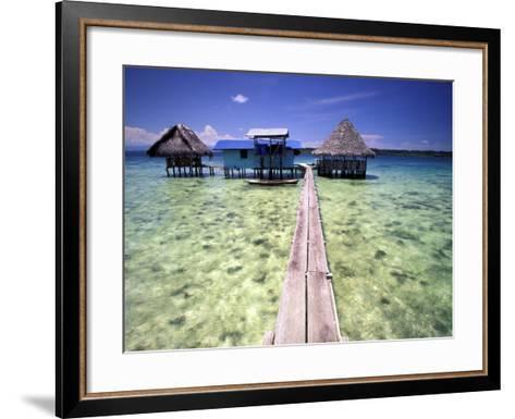 Restaurant Over the Water, Bocas del Toro Islands, Panama-Art Wolfe-Framed Art Print