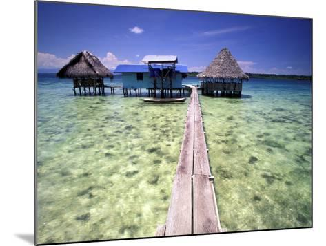 Restaurant Over the Water, Bocas del Toro Islands, Panama-Art Wolfe-Mounted Photographic Print