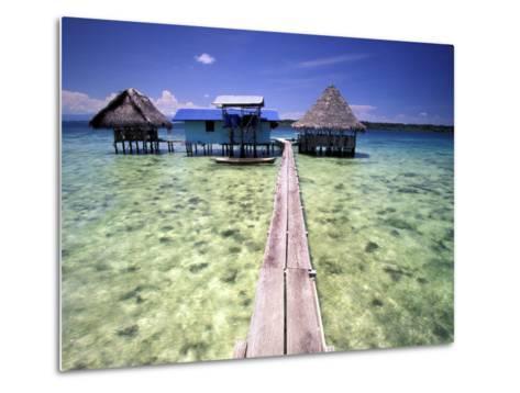 Restaurant Over the Water, Bocas del Toro Islands, Panama-Art Wolfe-Metal Print