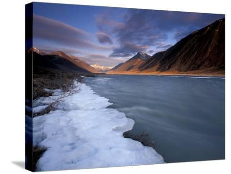 View of River and Landscape, Arctic National Wildlife Refuge, Alaska, USA-Art Wolfe-Stretched Canvas Print