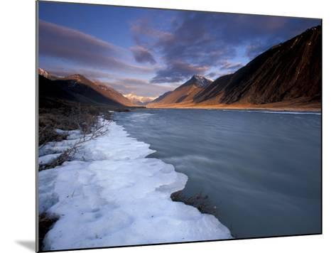 View of River and Landscape, Arctic National Wildlife Refuge, Alaska, USA-Art Wolfe-Mounted Photographic Print