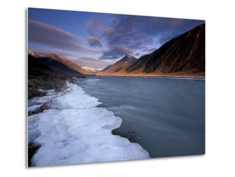 View of River and Landscape, Arctic National Wildlife Refuge, Alaska, USA-Art Wolfe-Metal Print