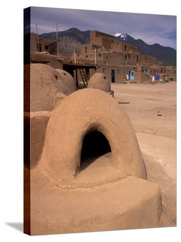 Oven in Taos Pueblo, Rio Grande Valley, New Mexico, USA-Art Wolfe-Stretched Canvas Print