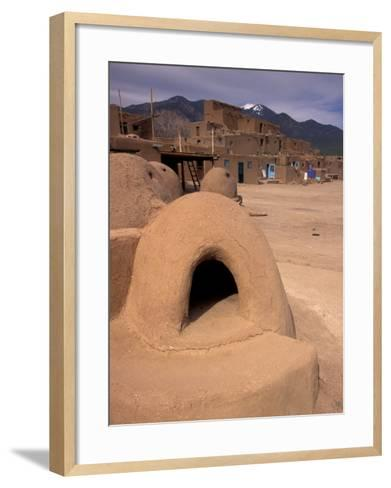 Oven in Taos Pueblo, Rio Grande Valley, New Mexico, USA-Art Wolfe-Framed Art Print