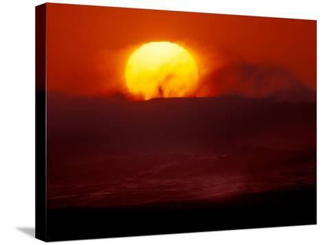 Waves and Sun, Cannon Beach, Oregon, USA-Art Wolfe-Stretched Canvas Print