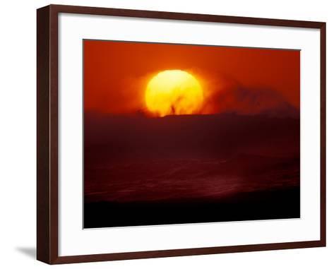 Waves and Sun, Cannon Beach, Oregon, USA-Art Wolfe-Framed Art Print
