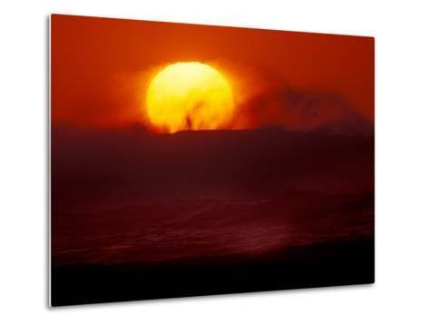 Waves and Sun, Cannon Beach, Oregon, USA-Art Wolfe-Metal Print