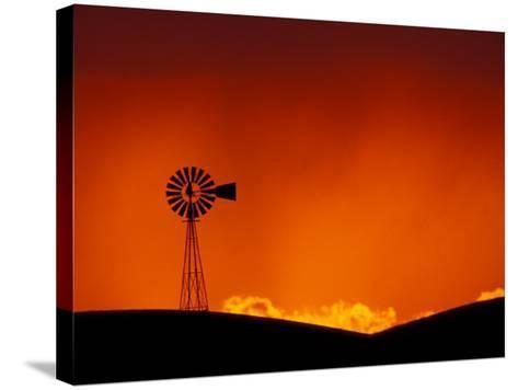 Windmill at Sunset, Palouse Region, Washington, USA-Art Wolfe-Stretched Canvas Print
