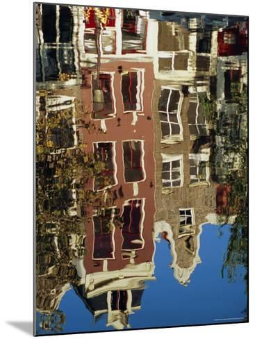 Reflection of Amsterdam Houses in Canal, Amsterdam, the Netherlands (Holland), Europe-Richard Nebesky-Mounted Photographic Print