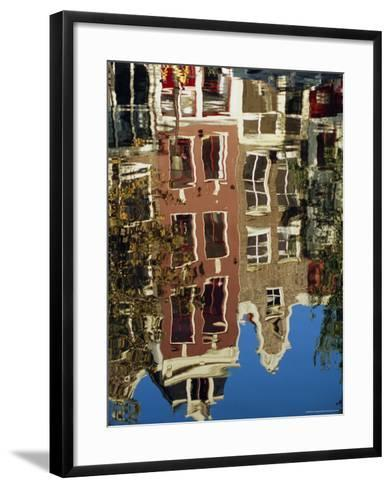 Reflection of Amsterdam Houses in Canal, Amsterdam, the Netherlands (Holland), Europe-Richard Nebesky-Framed Art Print