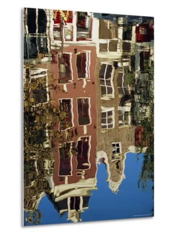 Reflection of Amsterdam Houses in Canal, Amsterdam, the Netherlands (Holland), Europe-Richard Nebesky-Metal Print