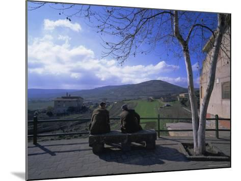 Two Men on a Bench, Barbagia, Sardinia, Italy, Europe-Oliviero Olivieri-Mounted Photographic Print